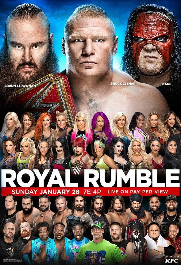 Spaceman Frank's Royal Rumble 2018 Predictions