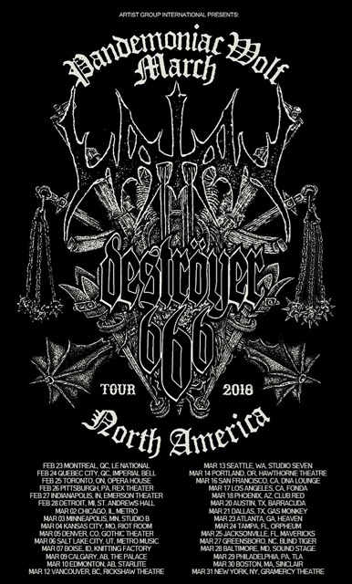 Watain and Destroyer 666 at the Gramercy Theater